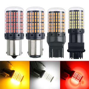1PCS S25 3014 144smd Canbus 1156 BAU15S PY21w T20 1157 bay15d p21 5w 7440 W21W Led Bulbs For Turn Signal Light Super Bright