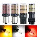 1x3014 144SMD Canbus S25 1156 BAU15S PY21w T20 1157 bay15d p21 5 Вт 7440 W21W светодиодных ламп для поворотов светильник Белого красного и желтого цвета