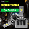 FCCEMC 2PCS Super Bright 24000LM D3S Customized For Audi S3 Car Headlights LED Canbus LED Auto Lights Bulb 12V 55W Lamp 6000K