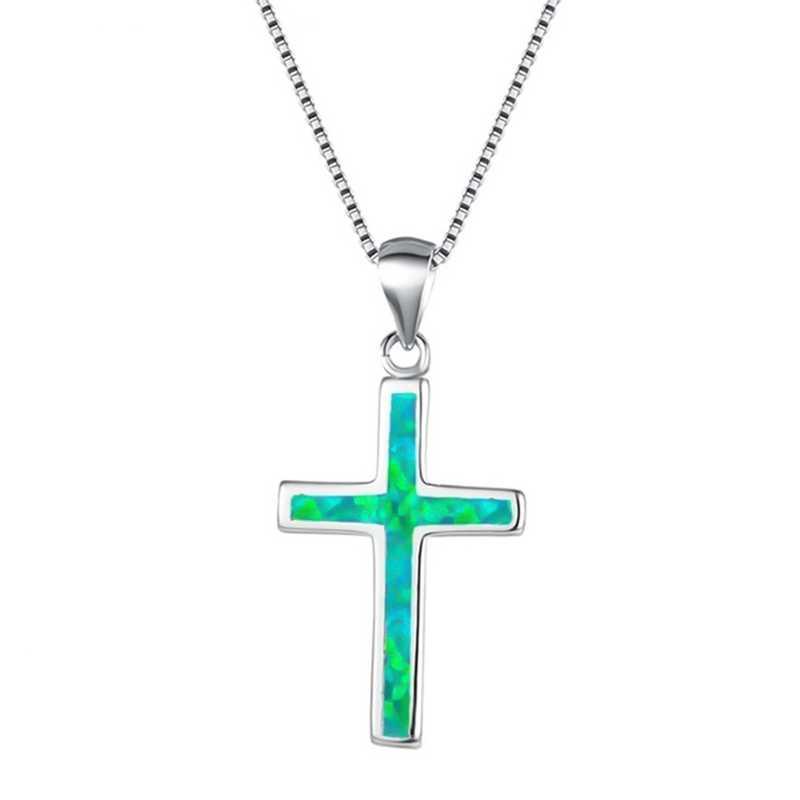 Шикарный многоцветный Опал Камень чокер женский изысканный крест-образный опал кулон ожерелье Подарочное кольцо