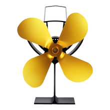 4 лезвия прочный энергосберегающий термоуправляемый эффективный практичный легкий вентилятор для камина зимний золотой дом низкий уровень шума металл