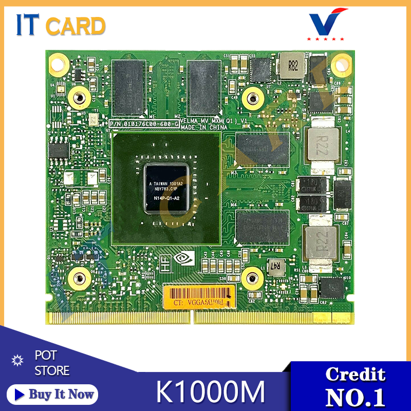 Quadro K1000M K1000 GDDR3 2GB Video Graphics Card With X-Bracket N14P-Q1-A2 For HP 8560W 8570W 8770W Dell M4700 M4800