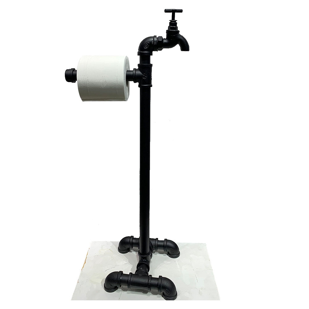 Decor Paper Holder Roll Tissue Metal Pipe Storage Industrial Style Accessories Bathroom Home With Spout Freestanding Toilet