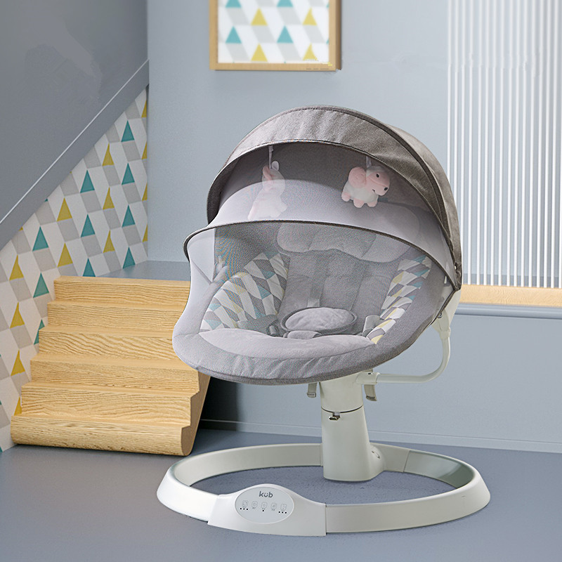 Electric Baby Rocking Chair For Newborn Baby Swing With Bluetooth Comfort Cradle Bed Soothing The Baby's Artifact Sleeps