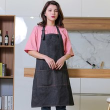Hot Sale Hairdresser Aprons Chef Cafe Shop Aprons Unisex Restaurant Cooking Aprons Kitchen Waiters Uniforms with Pockets(China)
