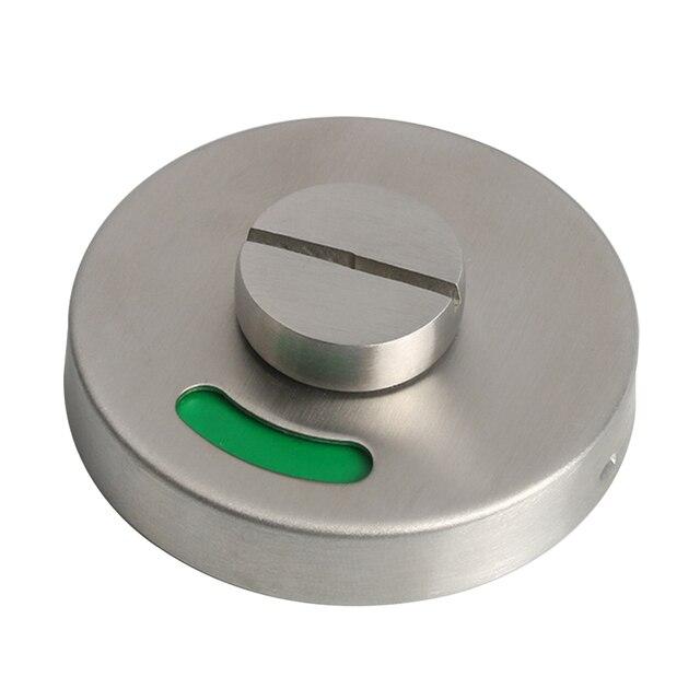 Verrou de porte lisse avec bouton de rotation | Matériel Durable en acier inoxydable, WC, toilettes, indicateur de center commercial, hôtel salle de bains antirouille