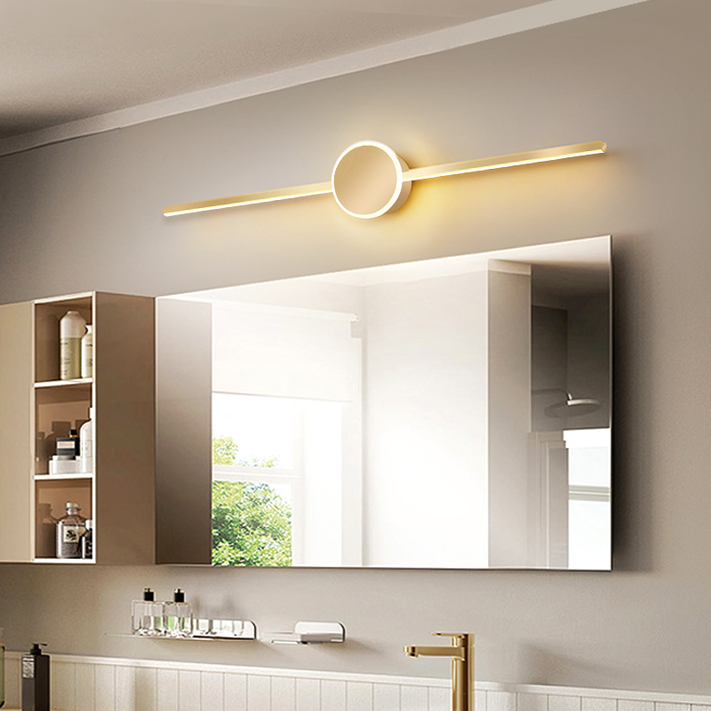 Mirror Lamp Bathroom About Modern Led Bathroom Creative Personality Long Mirror Wall Lamp Northern Europe Make-up Mirror Cabinet