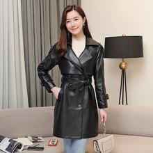 Женская новая модная куртка из натуральной овечьей кожи r46