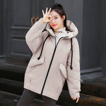 Winter Women Parkas Hooded Oversized Puffer Coats Female Casual Warm Jackets With Hood Yellow Green Beige Black Outerwear