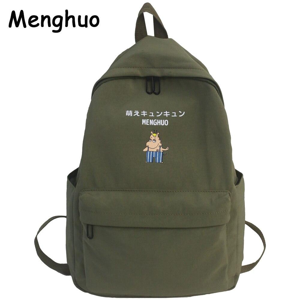 Menghuo New Preppy Style Backpack Women Cute Animal Printed Backpack Teenager Girls School Bags Mochilas Rucksack Mochilas Mujer