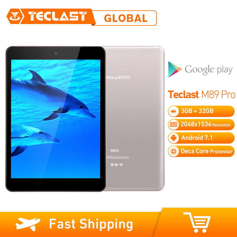 Teclast M89 Pro tablette PC 10 Core 2.1GHz mis à niveau 3GB + 32GB 7.9 pouces Android 7.1 MTK Helio X27 (MT6797) OTG double WiFi HDMI type-c