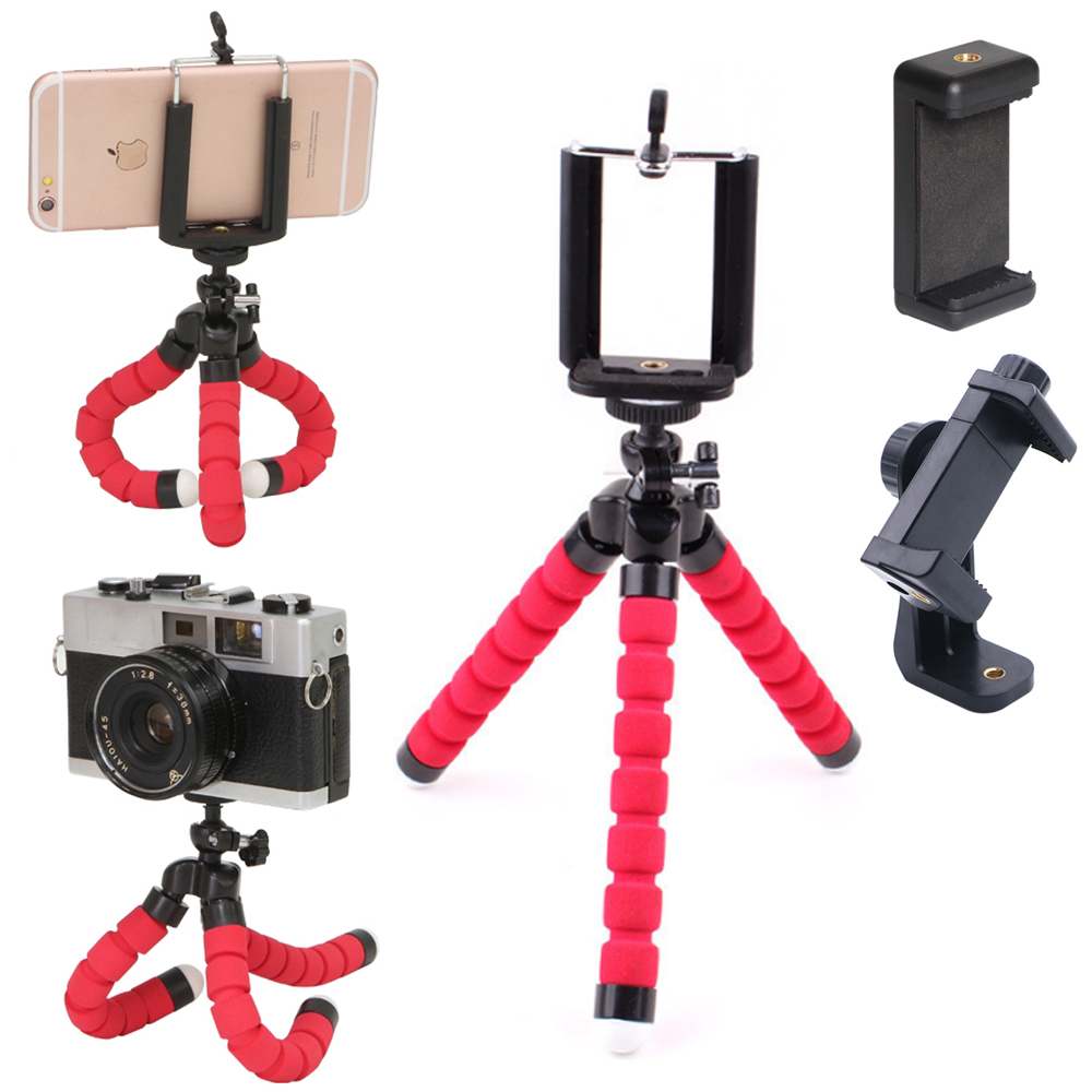 3in1 Phone Holder Flexible Octopus Tripod Bracket Selfie Expanding Stand Mount Monopod Styling Accessories For Mobile Phone Came