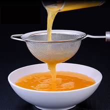 1pcs 304 Stainless Steel Soy Milk Filter Sesame Drug Residue Juice Mesh Sieve Kitchen Colander For Supplies