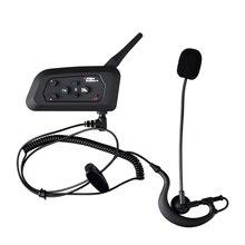 Fodsports 1pcs 1200M 4 User Talking Full Duplex Communication Headset for Football Referee Judge Motorcycle Wireless BT Intercom