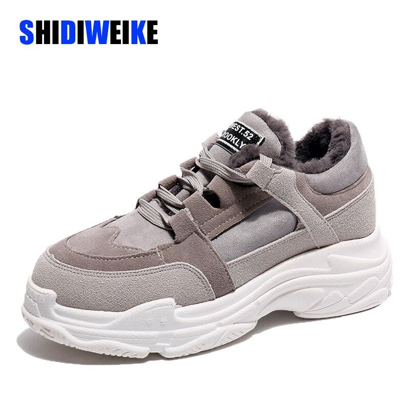 Sneakers Women Winter Running Shoes For Women Cotton Plush Mixed Colors Sport Shoes Woman 2019 Winter Shoes Women G949