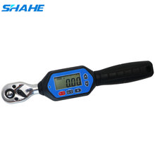 SHAHE Мини Цифровой Динамометрический ключ 1/4 3/8 1/2 Регулируемый профессиональный электронный динамометрический ключ цифровые ручные инструменты