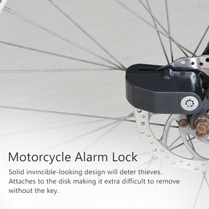 Image 4 - Cadenas dalarme pour Moto, cadenas de sécurité étanche pour Moto, accessoire de sécurité Anti vol pour freins à disques, cadenas avec sirène pour Suzuki, Kawasaki et BMW
