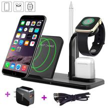 Wireless Charger Stand,Maxzi 3 in 1 Qi 18W Wireless Charger Phone x Dock Pad Compatible with Watch + Airpods + Phone