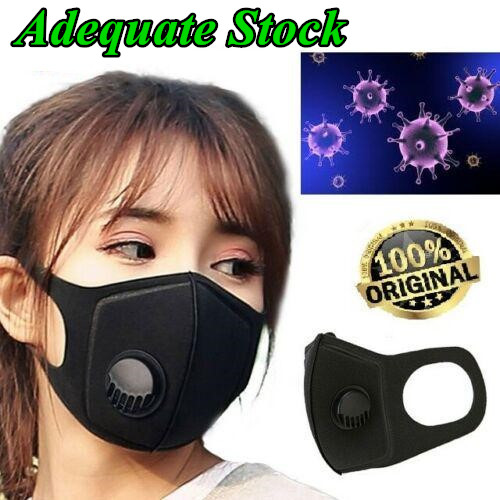 1PC Black Anti-Dust Masks FFP3 Mask Face Mask Air Purifying Mask Filter Dust Haze Fog Respirator Outdoors Cycling Trainning Mask