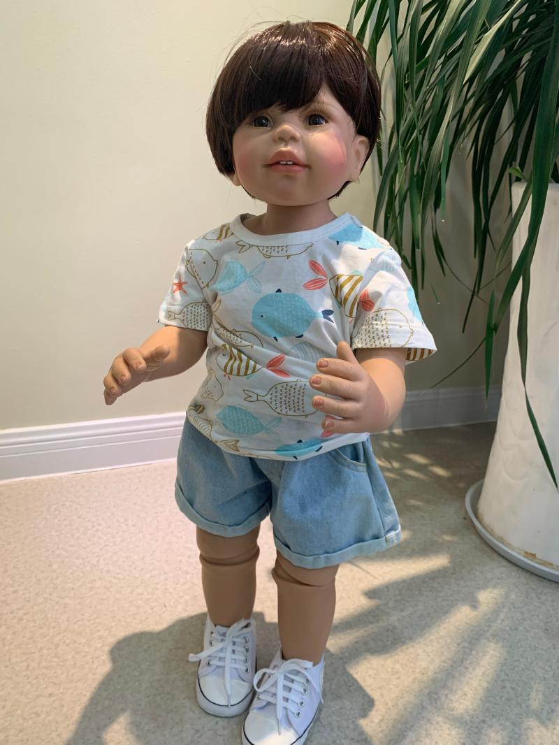 70cm Baby Girls <font><b>Dolls</b></font> Realistic full Silicone vinyl Reborn Toddler <font><b>Dolls</b></font> gift ball jointed <font><b>BJD</b></font> <font><b>dolls</b></font> child clothing model image