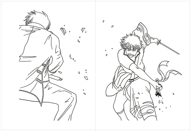 176 Page Anime Gintama Antistress Colouring Book for Adults Children Relieve Stress Painting Drawing Coloring Book Gifts 1