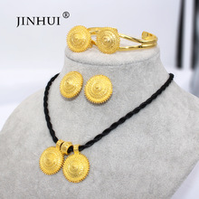 Jewelry-Sets Ethiopian Eritrea Earring-Ring Necklace Pendant Dubai Gold-Gifts African