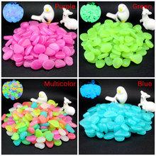 10 sztuk świecące w ciemności kamienie świecące kamienie fluorescencyjne jasne kamyki świecące kamienie do dekoracji ogrodu akwarium tanie tanio Luminous Pebbles Rocks