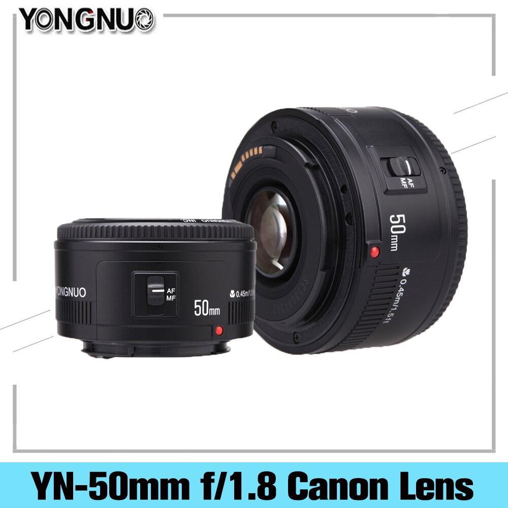 YONGNUO YN50mm YN50 F1.8 объектив камеры EF 50 мм AF объектив MF диафрагма для Canon EOS Rebel T6 700D 750D 5D 6D Mark II IV 10D Dslr Объектив