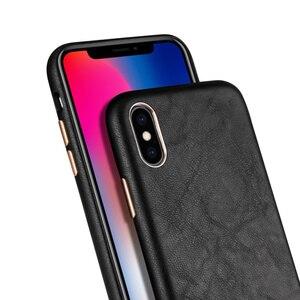 Image 3 - Lambskin all inclusive pokrowiec na tył do iPhone Xs Max XR 11Pro max 7 8 Plus ckhb 13v metalowy guzik luksusowe skórzane etui