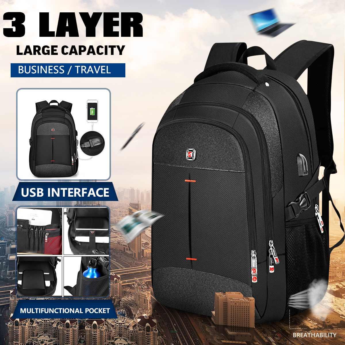 16 Inch Laptop Backpack Men Multifunctional Waterproof Backpacks Male USB Charging Travel Backpack Women Schoolbag Bolsa Mochila