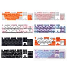 1 مجموعة 7 ألوان اختياري شفافة مزدوجة النار PBT 104 كيكابس الخلفية ل الكرز MX لوحة المفاتيح التبديل ل السلكية لوحة المفاتيح