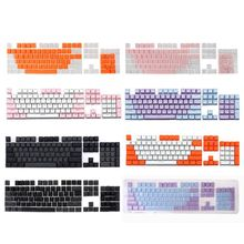 1SET 7Colors Optional Translucent Double Shot PBT 104 KeyCaps Backlit For Cherry MX Keyboard Switch For Wired Keyboard