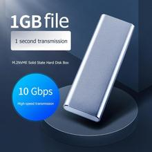 Get more info on the 10Gbps M.2 NVME to USB 3.1 Gen2 SSD Enclosure M-Key to Type C Mobile Case High Speed Transmit Enclosure Case for Phone Laptop