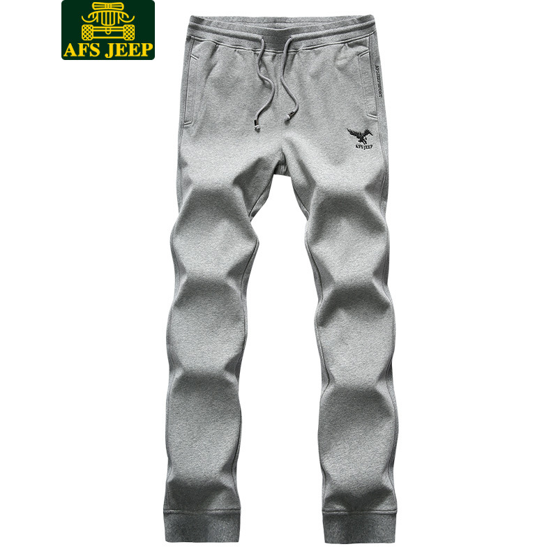 Brand Men Autumn Clothing Youth Thick Elasticity Casual Knitted Pants Men's Sports Skinny Sweatpants