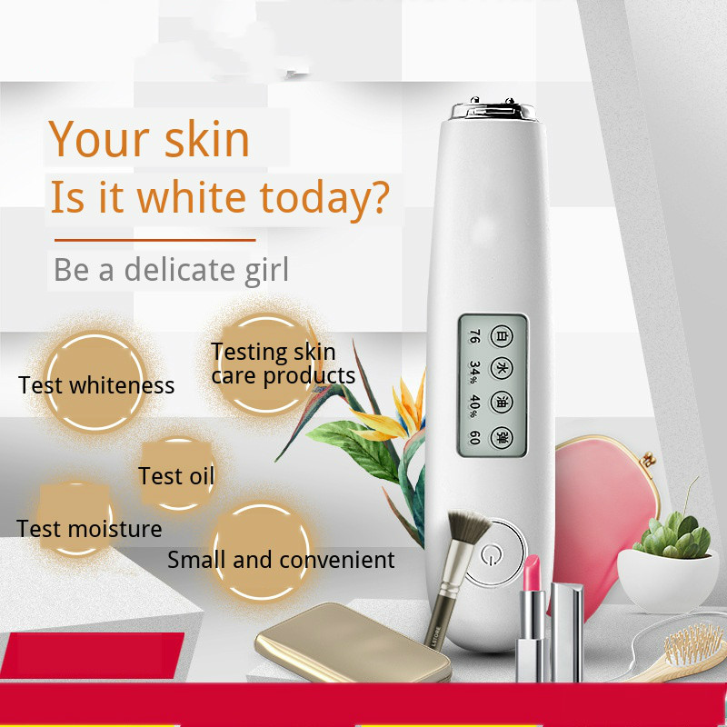 Smart Water And Oil Skin Analyzer With LCD Screen Skin Moisture Whiteness Tester Instrument Skin Care Tools USBcharging Device