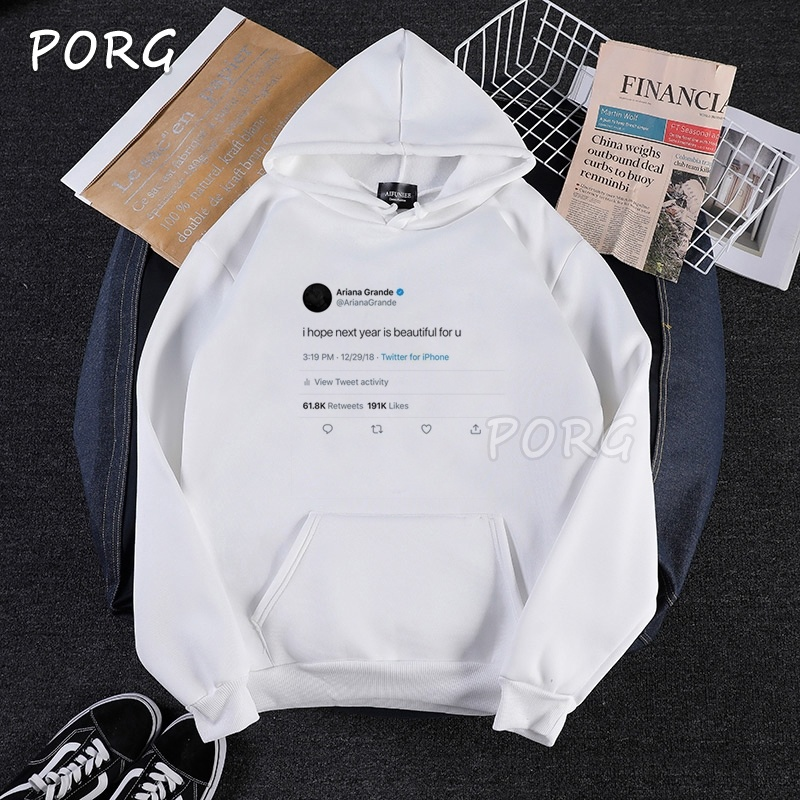 Ariana Grande Hoodies Gothic Unisex Clothes Korean Sweatshirt Man Woman Pullover Sudadera Mujer Korean Style Women Woman Clothes