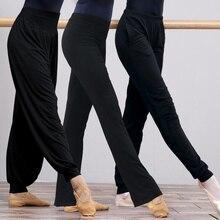 Women Yoga Pants High Waist Stretch Fitness Trousers Slim Running Sports Pants Ladies Cotton Dance Training Bell-bottoms