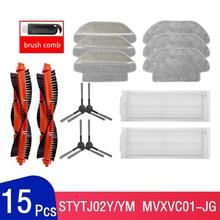 Kit de limpeza para xiaomi mijia, aspirador de pó varredor styj02ym, kit de peças de reposição, filtro hepa, esfregão