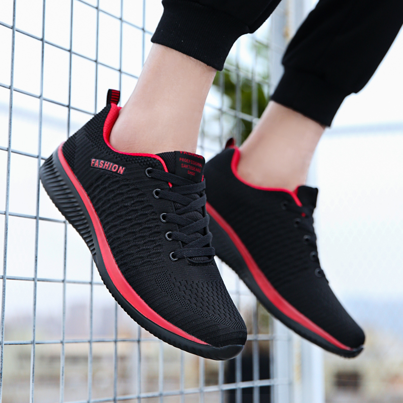 Mesh Running Shoes Large Size 47 Men Sneakers Lightweight Breathable Men Jogging Sport Shoes Outdoor Black Sneakers Male