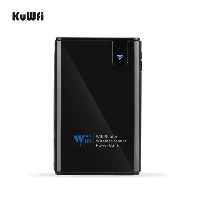 Wifi roteador 6000mah power bank wifi repetidor com porta rj45 & leitor de cartão sem fio usb hub função rede armazenamento externo