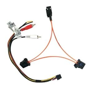 Image 2 - 3c para audi a6 a7 a8 q7 05 09 adaptador de amplificador de caixa de decodificador de fibra óptica do carro aux