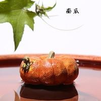 Flache Kürbis Tee Ornamente Yixing Lila Ton Wasser Speienden Tee Set Zubehör Großhandel Hersteller Ganz Handgemachte Singl-in Teeserviette aus Heim und Garten bei