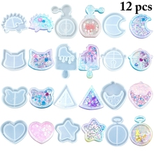 Mould-Tool Shaker-Mold Jewelry Diy-Accessories Pendant-Making Resin Silicone 12pcs Home