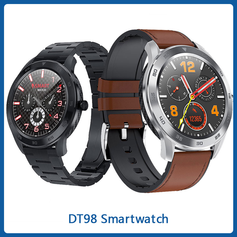 Round Full Touch Screen DT98 Smartwatch Bluetooth Call IP68 Waterproof Heart Rate Monitor Wristwatch Cheap ECG OEM Smart Watch