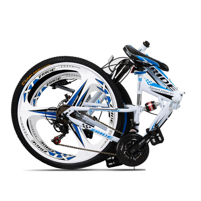 Mountain Bike 24 Inch 21/24/27/30 Speed 3 Knife Folding Double Disc Brake Bicycle 2019 New Suitable For Adults