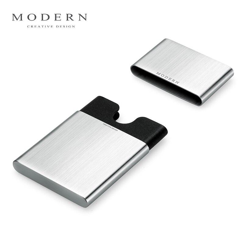 Современный фирменный бизнес-держатель для карт из нержавеющей стали, NFC RFID, блокирующий кредитный держатель для карт, органайзер для карт