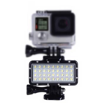 Dla Gopro Hero8 7 6 5 SJCAM SJ5000 Xiaomi yi Mijia EKEN H9 akcja lustrzanka podwodne oświetlenie fotograficzne lampa latarka nurkowanie tanie i dobre opinie NEELU Insta360