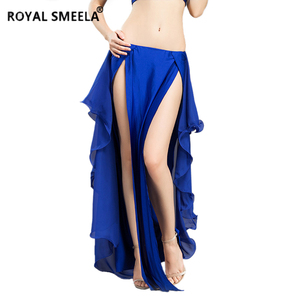 Image 2 - Hot Sale New double slit belly dancing skirts sexy swing Belly dance performance dress lotus skirt belly dance costume  6810
