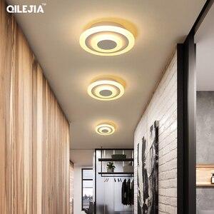 Image 4 - Lámpara acrílica cuadrada/redonda para sala de estar, dormitorio, hogar, AC85 265V, candelabro Led moderno, accesorios, novedad