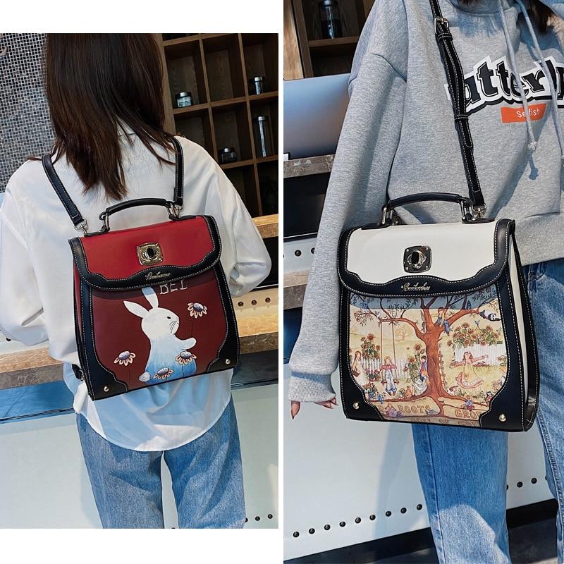 Beibaobao Fashion Women's Backpacks Luxury Pu Leather Luxury Girls Backpack Designer Women Bag Ladies 2020 New Female Backpack